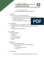 Semi Detailed Lesson Plan