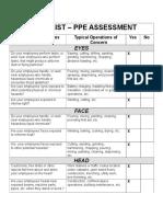 PPE Program Checklist