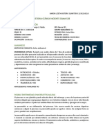 #1 Historia Clínica Paciente Cama 529