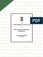 PM MSME Task Force Jan2010