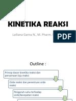 2. Kinetika reaksi