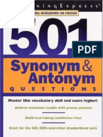 21199672 501 Synonyms and Antonyms