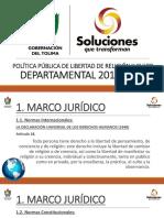 Política Pública de Libertad de Religión en el Tolima