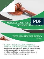 Magna Carta for Public School Teachers