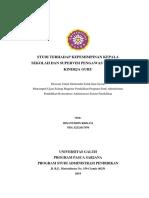 Artikel_peran Kepemimpinan Kepala Sekolah Dan Supervisi Pengawas_ihsanuddin