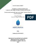 9, BE & GG, Yudiansyah,Hapzi Ali, Corporate Ethics, Universitas Mercu Buana, 2019