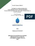 11, BE & GG, Yudiansyah,Hapzi Ali, Ethical Dilemmas, Source, And Their Resolutions, Universitas Mercu Buana, 2019