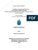 12, BE & GG, Yudiansyah,Hapzi Ali, Ethical Decision Making in Business, Universitas Mercu Buana, 2019