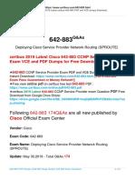 Pass Guarantee 642-883 Exam By Taking Certbus New Cisco 642-883 VCE And PDF Braindumps