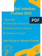2018 Prelims Detailed Solutions Along With Source Analysis