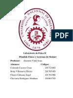 Informe Péndulo Físico y Teorema de Steiner