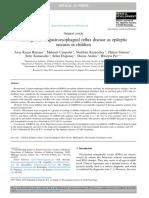 Missdiagnosis of Gastroesophageal Reflux Disease as Epiletic Seizure in Children