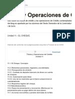 Titulos y Operaciones de Crédito._ Unidad 11.- EL CHEQUE