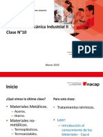 Clase 10 - Materiales Mecánica Industrial II
