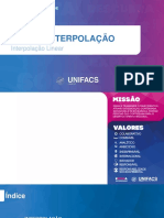 Aula 09 - Interpolação (Interpolação Linear) (1)