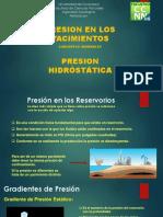 Presion - P. Hidrostática - Perforación