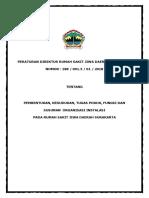 Perdir Tentang Pembentukan Kedudukan Tugas Pokok Fungsi Dan Susunan Organisasi Instalasi 1