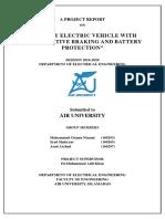 Regenerative braking project report