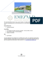 Emerald Maldives - Job Posting 21 July