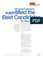 How One Company Identified the Best Candidates for Management