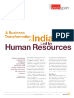 A Business Transformation in India Led by Human Resources