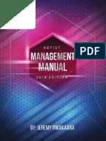 Artist management guide