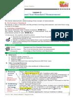 DLP Math G7 SY 2019 20 Q1 L2 Standard Non Standard Measurements