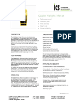 Cable Height Meter Specification