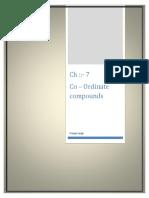 Co Ordinate Compounds