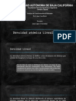 Densidad Lineal Planar
