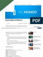 Www Tecmundo Com Br Windows 7 1392 Lista de Atalhos Do Windo