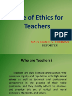 Code of Ethics for Teachers
