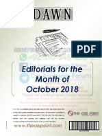 Monthly DAWN Editorials October 2018