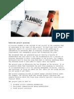 Undertake Project Planning