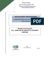 Bac Pro Mi s1.1. Analyse de Circuits a c.c.