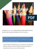 educação pela arte