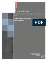 Core Values of Social Security Final Paper