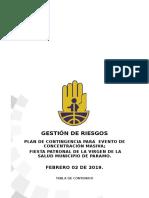 Plan de Eventos de Cocentración Masiva 02 Febrero 2019 Paramo