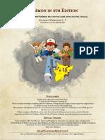 Pokemon 5e PHB - Gen I - V