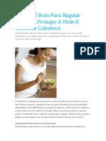 Abacate É Bom Para Regular Intestino, Proteger a Visão E Controlar Colesterol