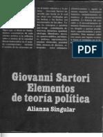 Giovanni Sartori - Elementos de teoría política lunes 1