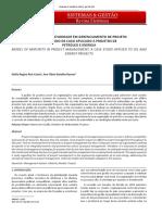 Modelo de Maturidade Em Gerenciamento de Projeto - Um Estudo de Caso Aplicado a Projetos de Petróleo e Energia
