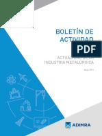 Informe Boletin MAYO sector metalúrgico