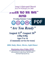 St George's Episcopal Church Free to Be Me 2019 flyer