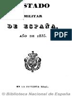 Estado militar de España (Ed. en 16º). 1832
