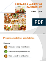 Prepare a variety of Sandwiches  PowerPoint