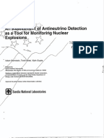 Antineutrino Detection for Monitoring Nuclear Explosions (Sandia, 1999)