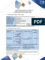 Activities Guide and Evaluation Rubric - Step 1 - Identification of Stakeholder and Environments of Virtual Course