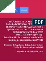 aplicación metodología para calculo de precios en diabetes