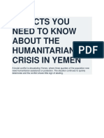 11 Facts You Need to Know About the Humanitarian Crisis in Yemen